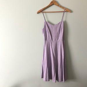 Old Navy Purple Small Pattern Fit Flare Sun Dress